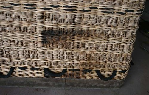 Figure 1: Scorch marks on wicker basket