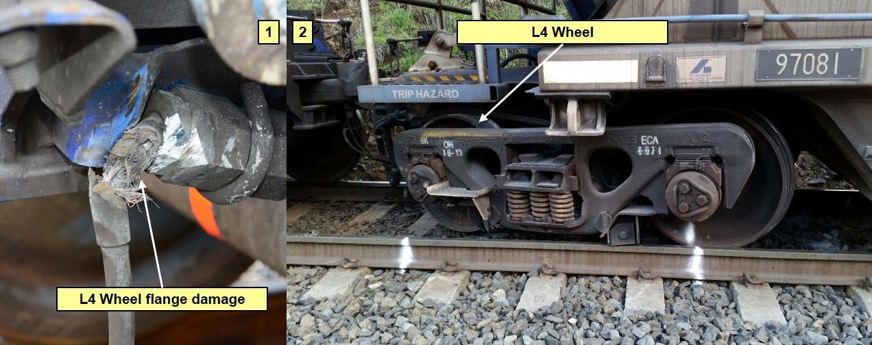 Figure 3: Damaged Electronically Controlled Pneumatic train line brake cable