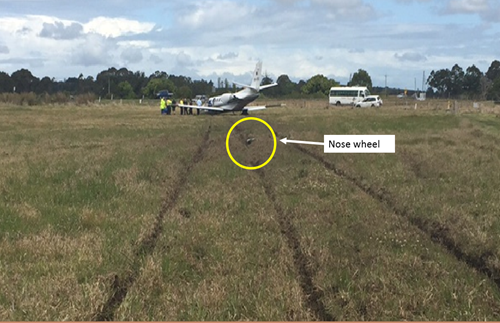 Figure 2: Accident site. Source: Lismore City Council – annotated by ATSB