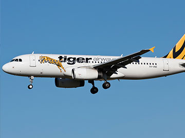 Tiger Airways Airbus A320. Source: Victor Pody