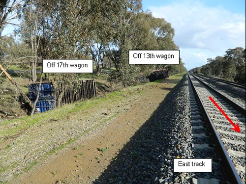 Figure 1: Containers laying adjacent the track