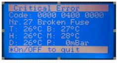 Error message from oven on N35953