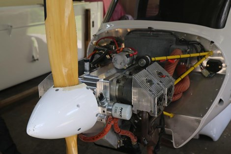 Figure 1: The engine from Jabiru J160 aircraft, RAAus registration 19-7549