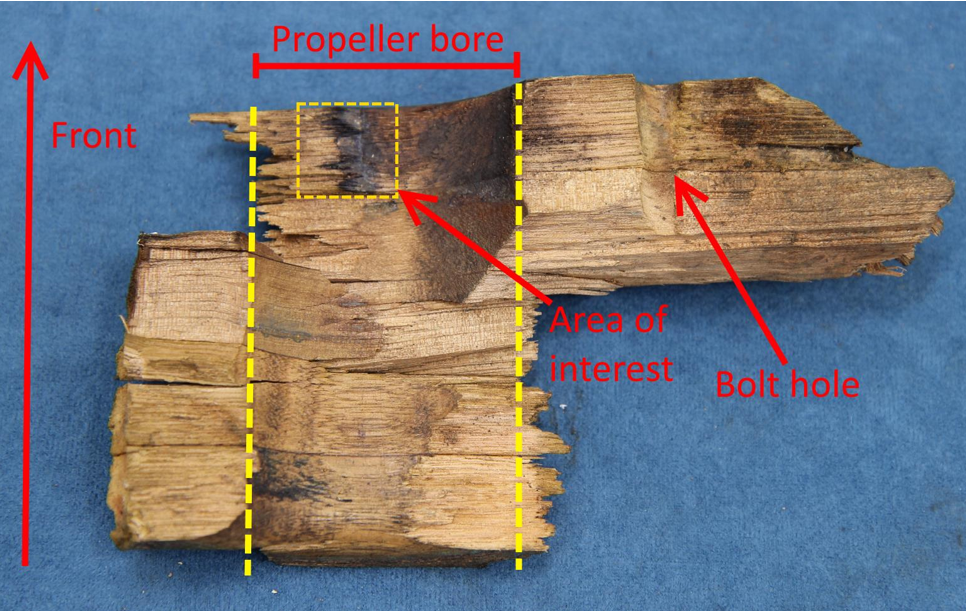Figure 3: Propeller remnants
