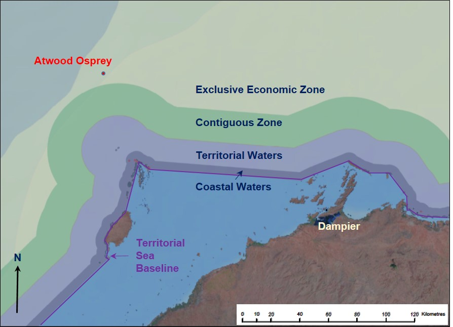 Figure 8: Maritime boundaries off the North West Shelf, Western Australia