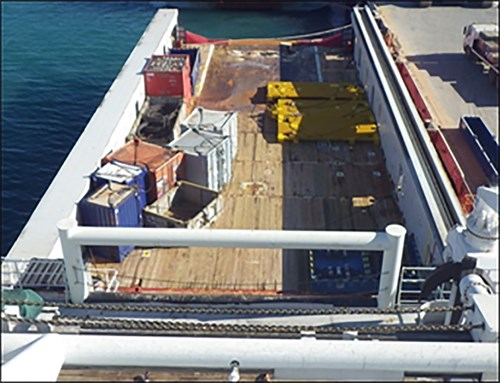 Skandi Pacific's aft deck (Source: DOF Management)