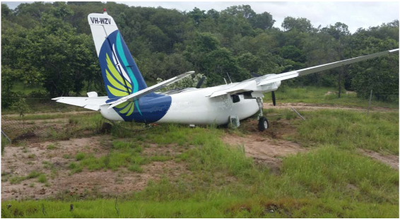 Runway excursion involving an Aero Commander 500 U at Badu Island, QLD on 8 March 2015. Source: Aircraft engineer.