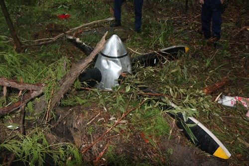 Figure 2: The propeller that had separated from VH-NRX as found by PolAir about 8NM south-west of Sydney airport.