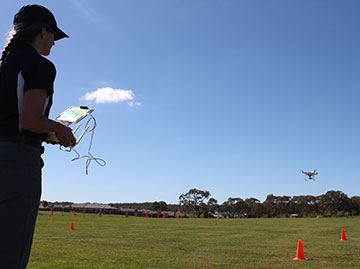 ATSB investigators recently trained in the use of a new remotely piloted aircraft or RPA