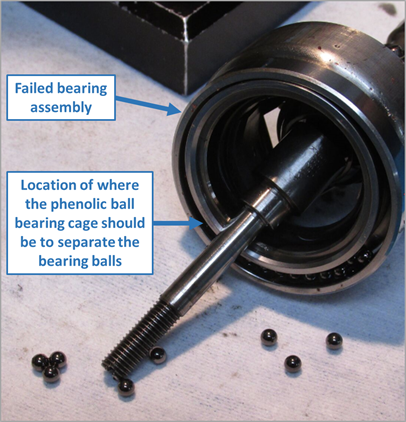 Figure 1: Failed bearing assembly