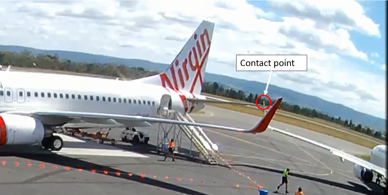 Figure 7: Contact between YFT left winglet and VUP left horizontal stabiliser