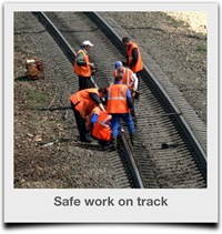 Safe work on rail