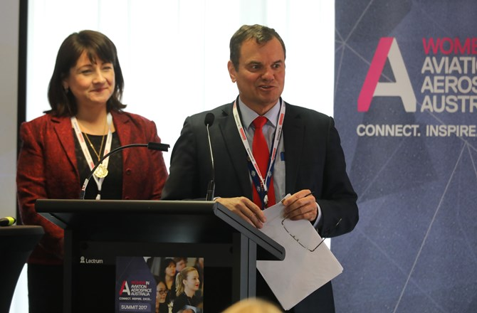 ATSB's Chief Commissioner Greg Hood presented at the Women in Aviation/Aerospace Australia's inaugural Canberra Summit