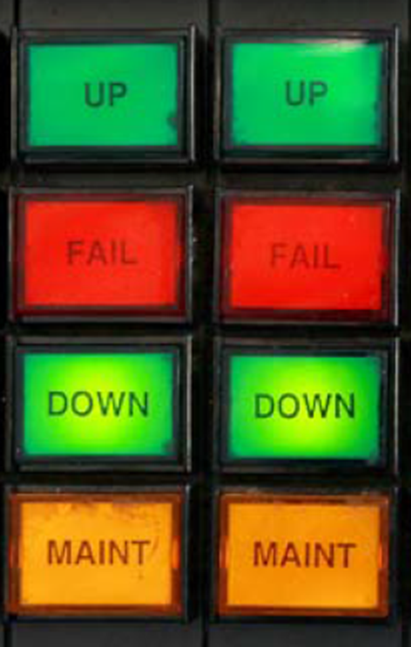 Figure 2: Tower control console hookcable pushbuttons