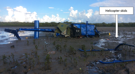 Figure 2: VH-DPU accident site at low tide