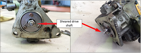 Figure 2: Sheared power turbine governor drive shaft