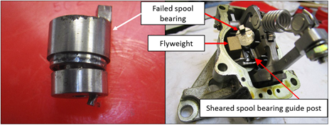 Figure 3: Spool bearing (left) and power turbine governor (right)