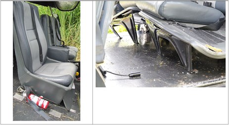 Figure 10: VH-SFX front seats (left) and rear passenger seats (right)