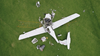 Diamond Aircraft Industries DA40-180 aircraft, registered VH-MPM after the accident showing the distribution of the wreckage