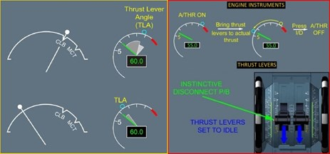 Figure 6: The thrust lever angle.