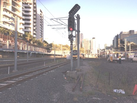 Figure 4: Signal configuration of RS57, at Roma Street Station, Brisbane