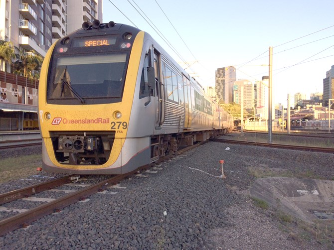 Queensland Rail suburban passenger train 1W33
