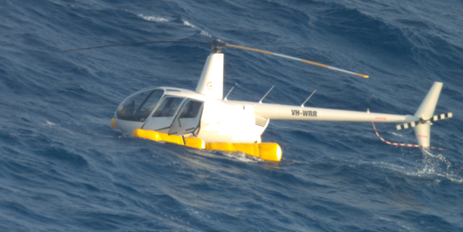 Figure 1: VH-WRR after ditching about 49 km north of Hamilton Island Airport, Queensland. Source: Australian Maritime Safety Authority, modified by the ATSB