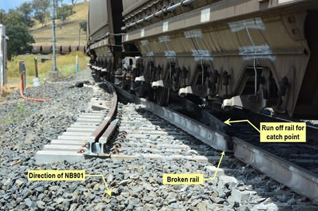 Figure 6: Damage at No.51 Points. Source: ATSB