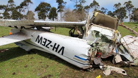 Figure 11: Main wreckage viewed from the rear showing significant disruption. Source: ATSB