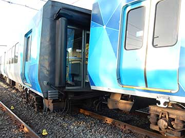 Metro Trains Melbourne passenger train derailed near Rushall Station in Melbourne, Victoria