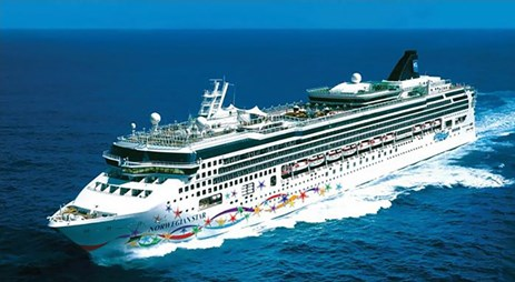 The passenger cruise ship Norwegian Star