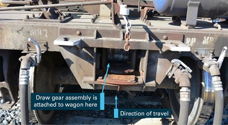 Figure 5: Location for draw gear assembly. Source: ATSB