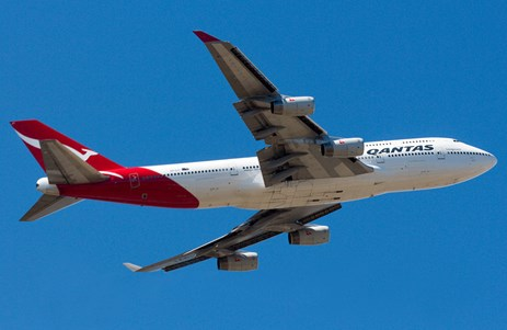 Figure 1: Qantas Boeing 747-438 aircraft, registered VH-OJT. Source: Christopher Chai