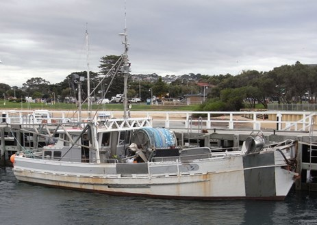 Figure 1: Mako alongside in San Remo after the collision. Source: ATSB