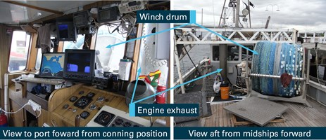 Figure 8: View from the conning position in Mako's wheelhouse. Source: ATSB