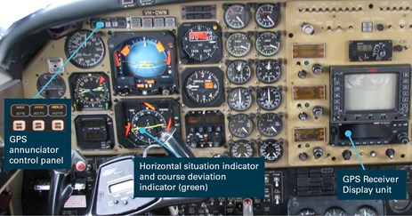 Figure 5: Cockpit instrument layout of VH‑OWN. Source: Civil Aviation Safety Authority