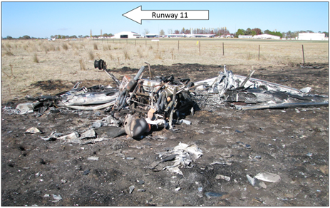 Figure 1: Cirrus SR22 registered VH-PDC wreckage. Source: ATSB