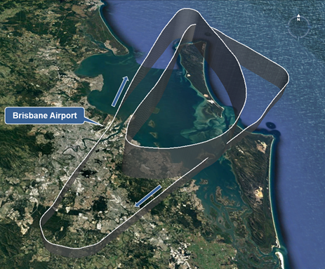 Figure 2: Flight path of 9M-MTK during turn-back. Source: Google Earth / ATSB.