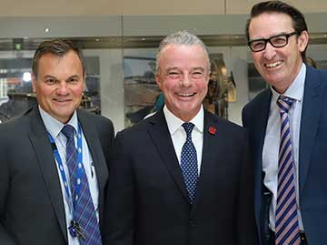ATSB Chief Commissioner Greg Hood, with Director of the Australian War Memorial Dr Brendan Nelson AO, and Dr Steven Kennedy, Secretary, Department of Infrastructure, Regional Development and Cities