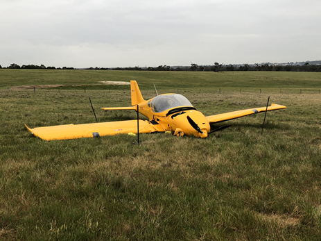 Figure 2: Accident site Bristell Light Sport Aircraft, registered VH-YVX. Source: ATSB