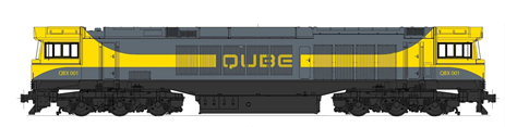Figure 6: QBX locomotive. This figure shows the side elevation of a QBX locomotive. Source: Qube Logistics