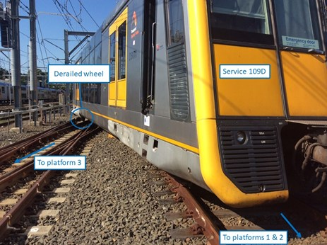 Figure 5: 109D derailed over 534 points. Source: ATSB