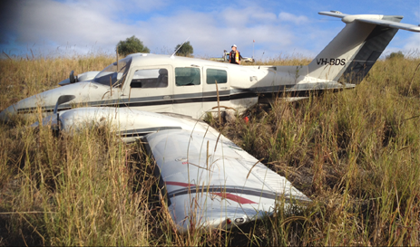 Figure 1: VH-BDS at the accident site. Source: Pilot