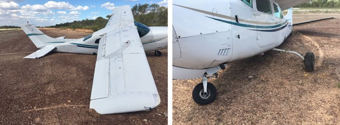 Figure 1: Damage sustained to the aircraft after landing. Source: Operator