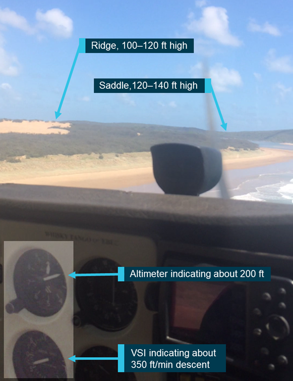 Figure B3: Still image from mobile phone video at 1037:26 (altimeter enhanced). Source: Queensland Police Service.