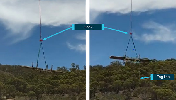 Figure 3: Images showing the occurrence load during departure from loading site.