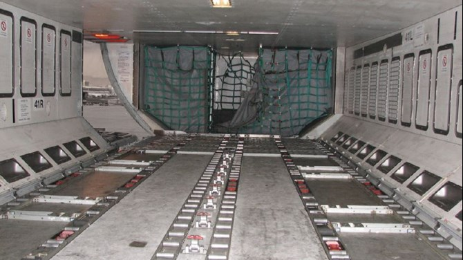 Typical A330-300 cargo hold