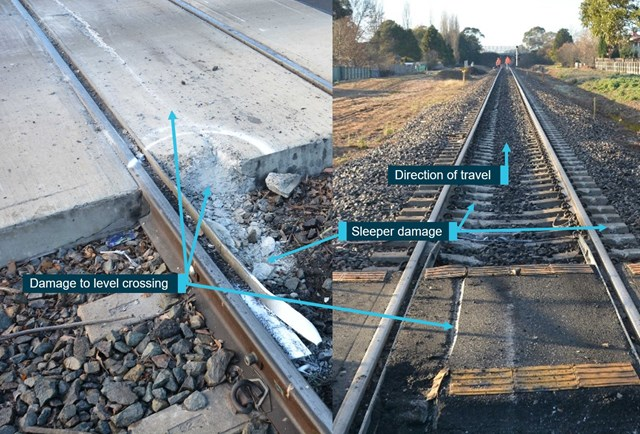 Figure 6: Level crossing damage. Source: OTSI