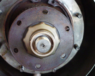 Figure 2: Engine drive adaptor elongated bolt holes