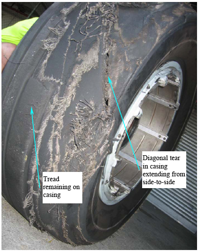 Figure 1: Failed number-3 tyre